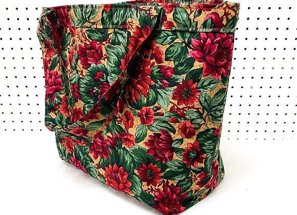 Large Village Bag (80s flowers)