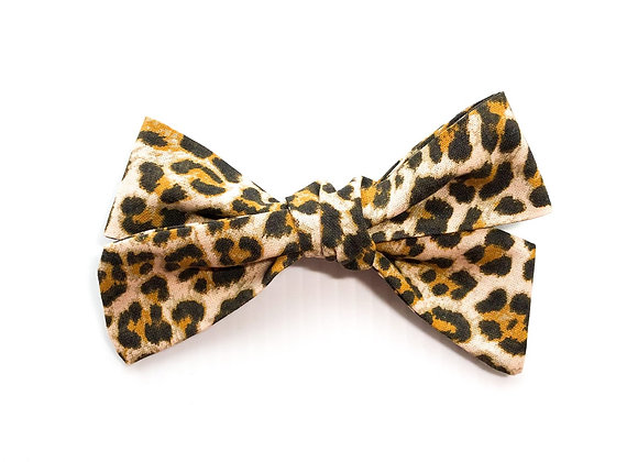 Handtied Hair Bow (Leopard)