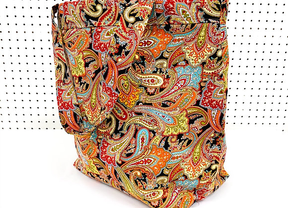 Large Village Bag (paisley chickens)