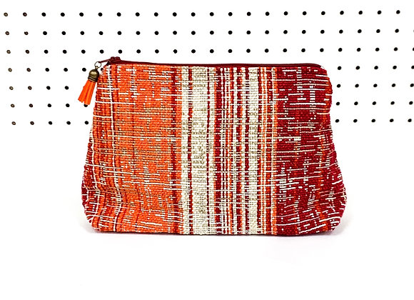 Large Upcycled Zipper Bag (Spice)