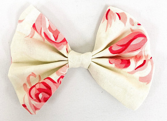 Cotton Hair Bow (Roses)