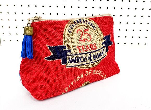 Upcycled Zipper Bag - western cream