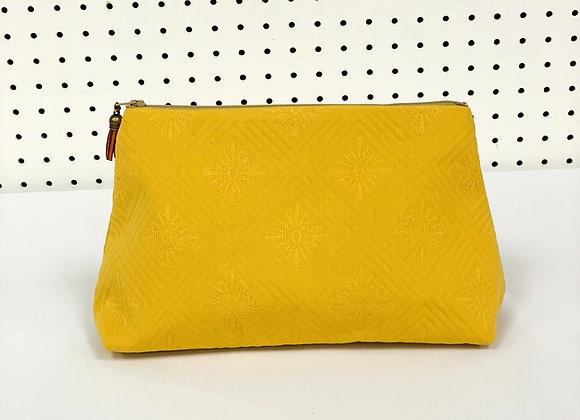 Large Upcycled Zipper Bag (Marigold)