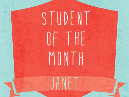 March Student of the Month: Janet