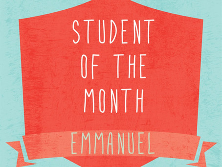 Student of the Month: Emmanuel