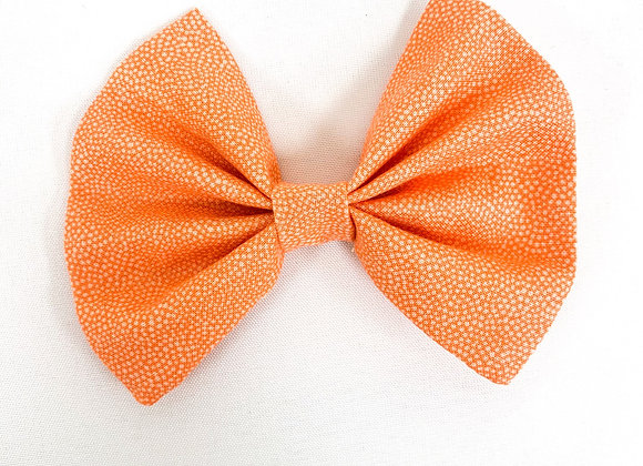 Cotton Hair Bow (Orange Print)