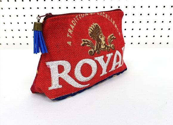 Upcycled Zipper Bag - stars