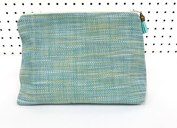 Large Upcycled Zipper Bag (calm)