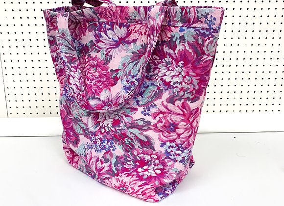 XL Village Bag (pink flowers)