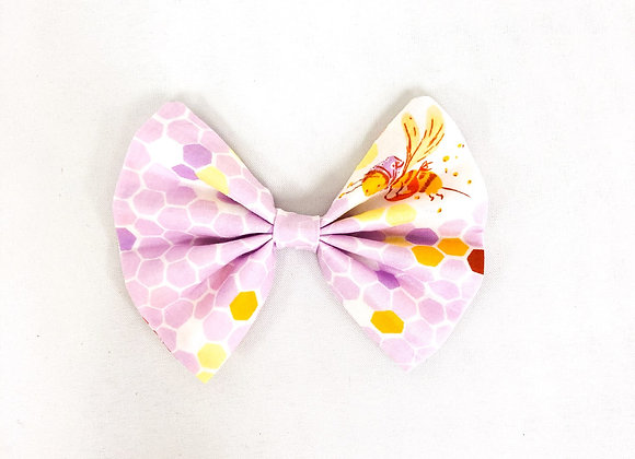 Cotton Hair Bow (Honeycomb + Bee)