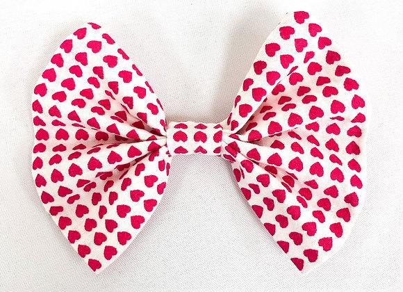 Cotton Hair Bow (Hearts)