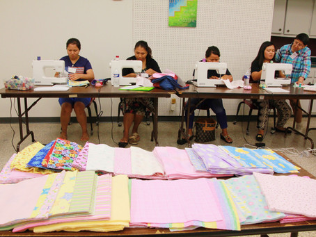 """""""Paying it Forward"""" with Burp Cloths!"""