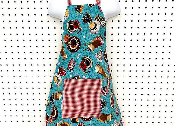 Child Apron (red checked kitchen)