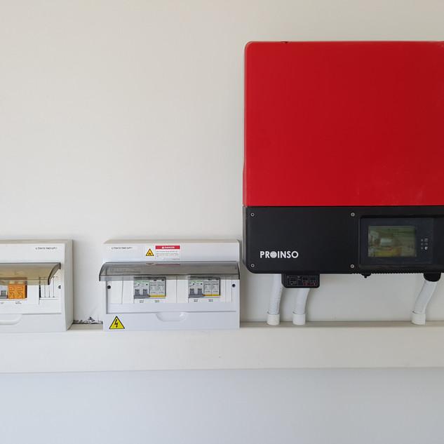 5 KW Sunnybiy grid tied PV installation