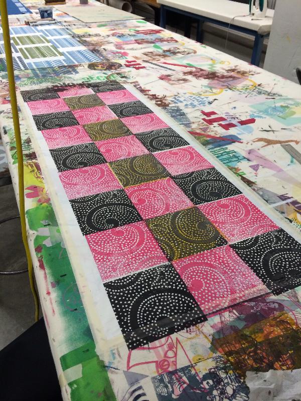Silkscreen printing sample