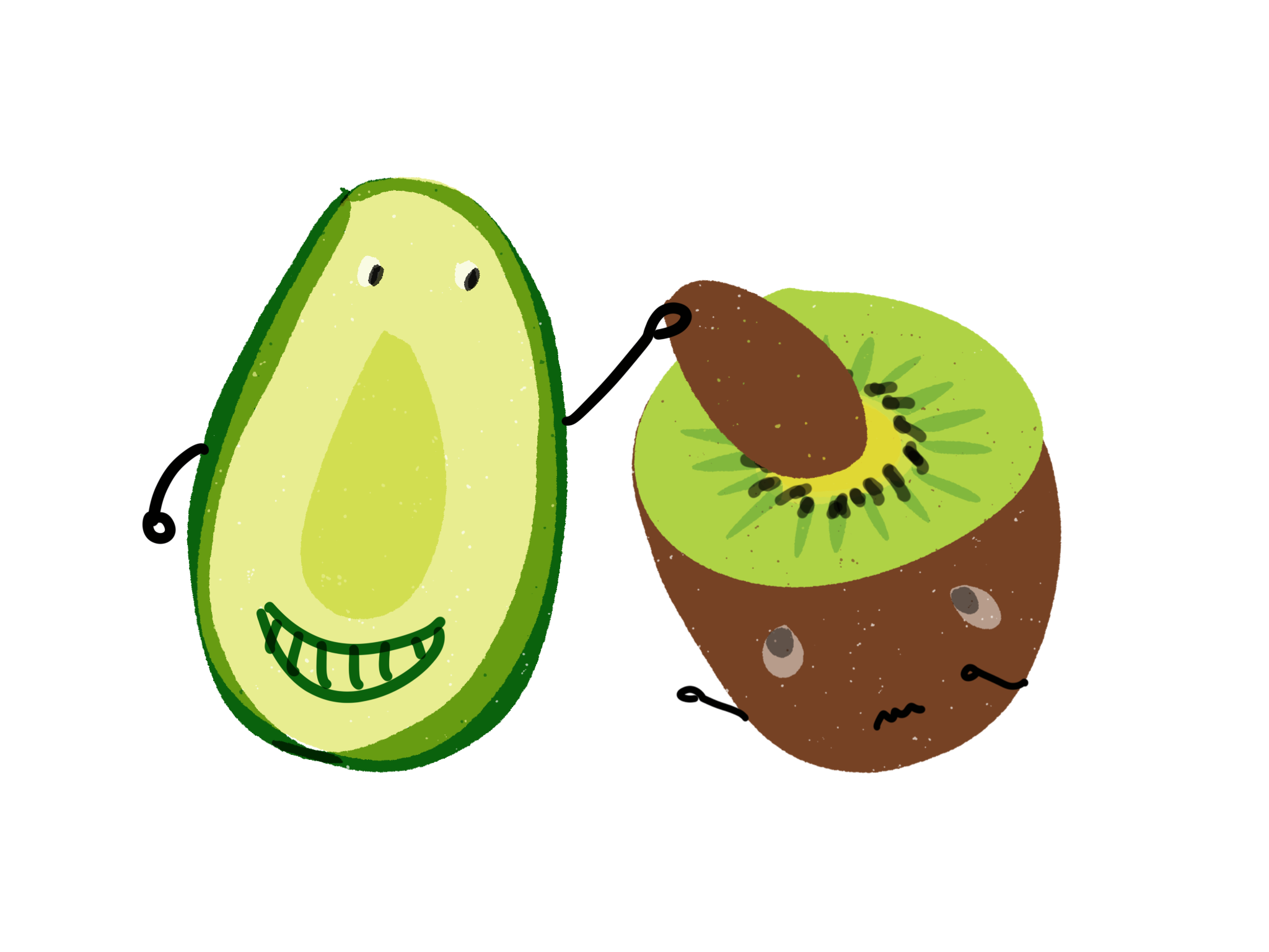 Avocado and Kiwi