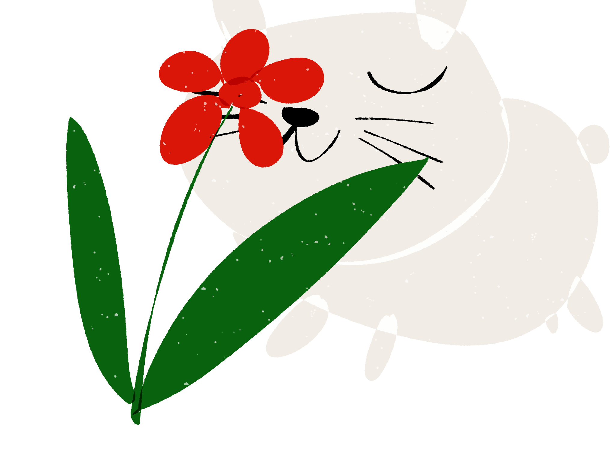 Rabbit and Flower