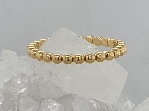 18K Yellow Gold Bead Ring - 2mm