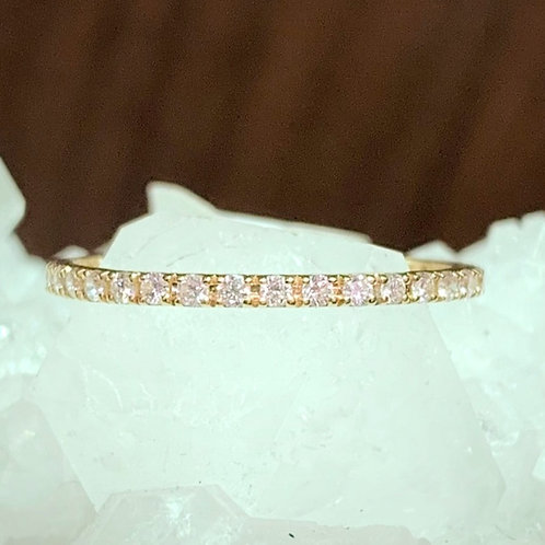 Diamond & 18K Yellow gold Eternity Ring