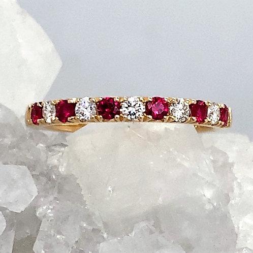 Ruby, Diamond & 18K Yellow Gold Ring