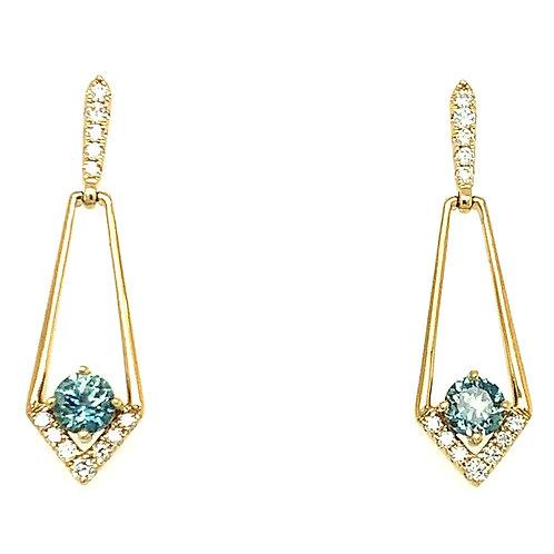 Montana Sapphire & Diamond Earrings