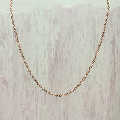 14K Yellow Gold Wheat Chain - Adjustable