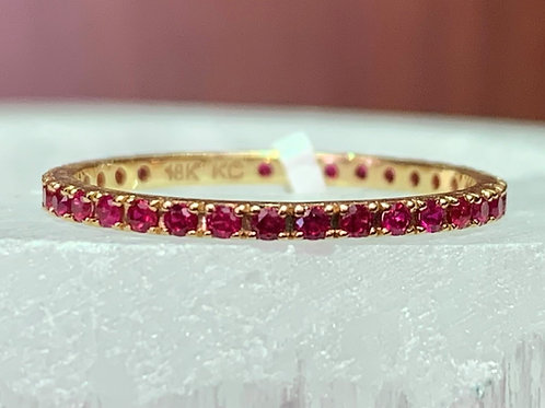 Ruby & 18K Yellow Gold Eternity Ring