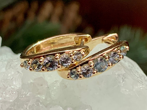 Montana Sapphire Huggie Earrings