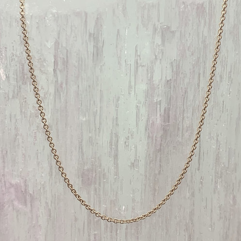 14K Yellow Gold Cable Chain - Adjustable