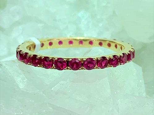 Ruby & 18K Yellow Gold Eternity Ring