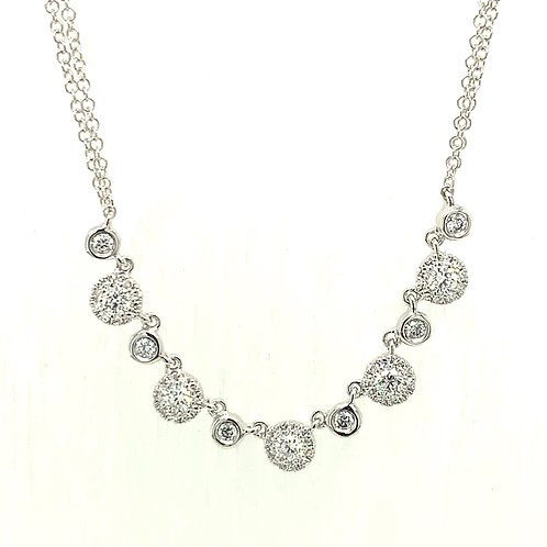Diamond Circles with Double Strand Chain