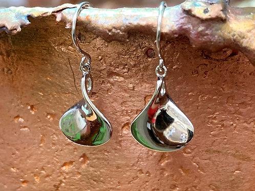Sterling Silver Scoop Earrings
