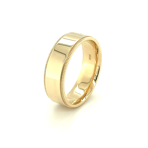 Gent's 14K Yellow Gold Flat Band