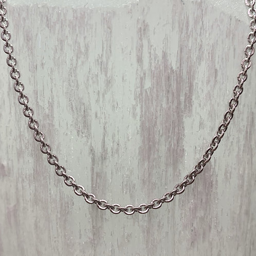 14K White Gold Forsantina Chain