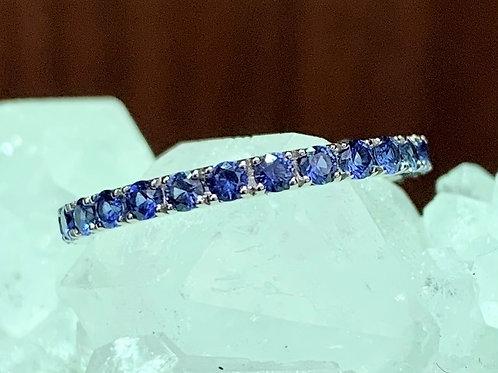Sapphire  & 18K White Gold Eternity Ring