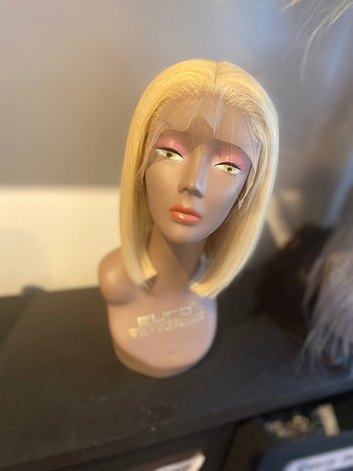 Blonde Bob glue-less unit