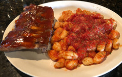 Homemade Gnocchi with 1/2 Rack Ribs
