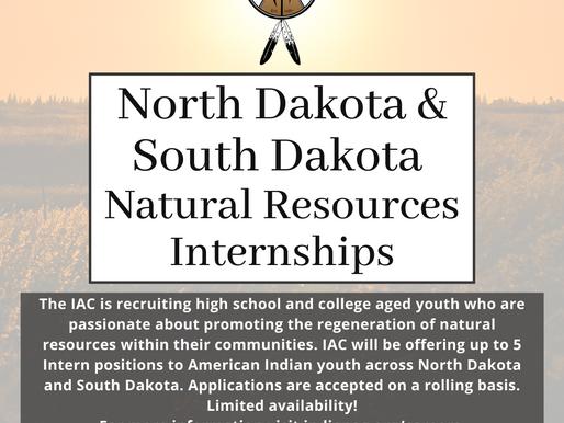 North Dakota & South Dakota Natural Resources Internships
