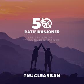 Gladsak! FNs Atomvåpenforbud!