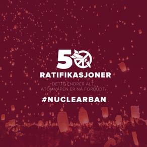 Atomvåpen er endelig forbudt!