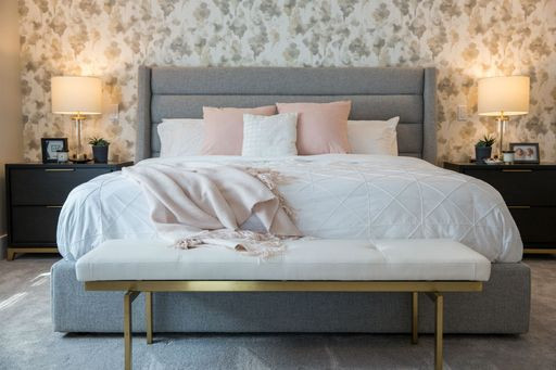 Custom home wallpaper bedroom