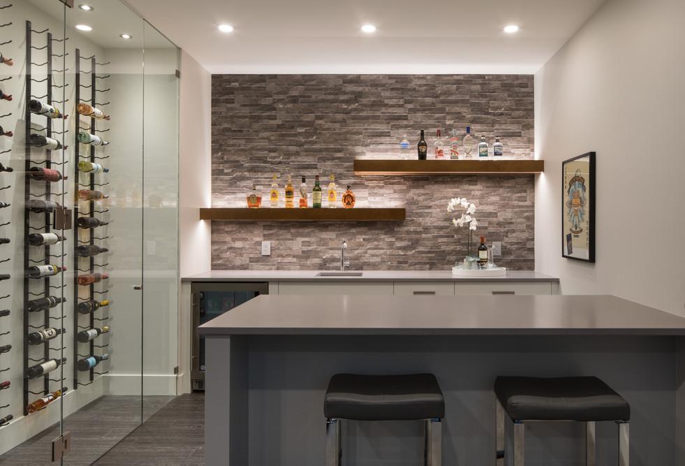 Bar with wine room