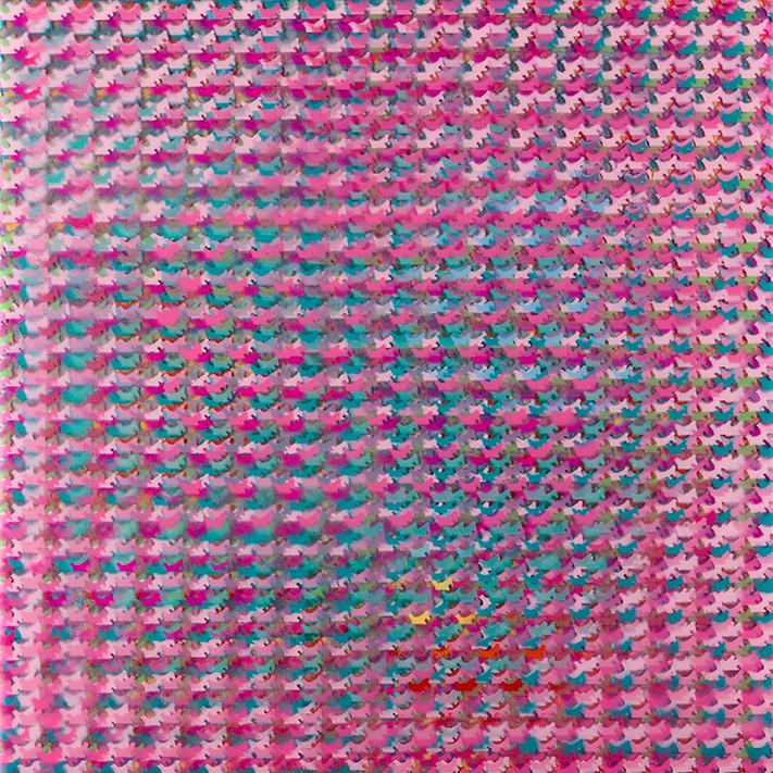 HP Series: Pink Half-Ass Sheep (After Howardena Pindell)