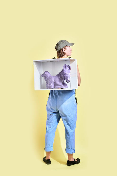 Half-Ass Sheep X White Cube Backpack