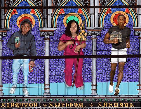 Black Saints: Trayvon, Breonna,& Ahmaud.