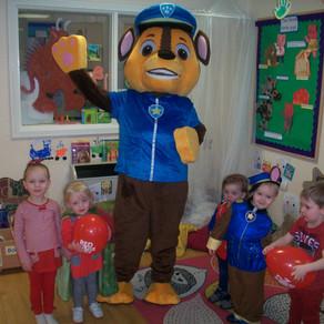 Chase visits Hemlington Children's Centre Nursery