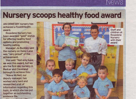 Rosedene Ormesby Scoop Gold Healthy Food Award