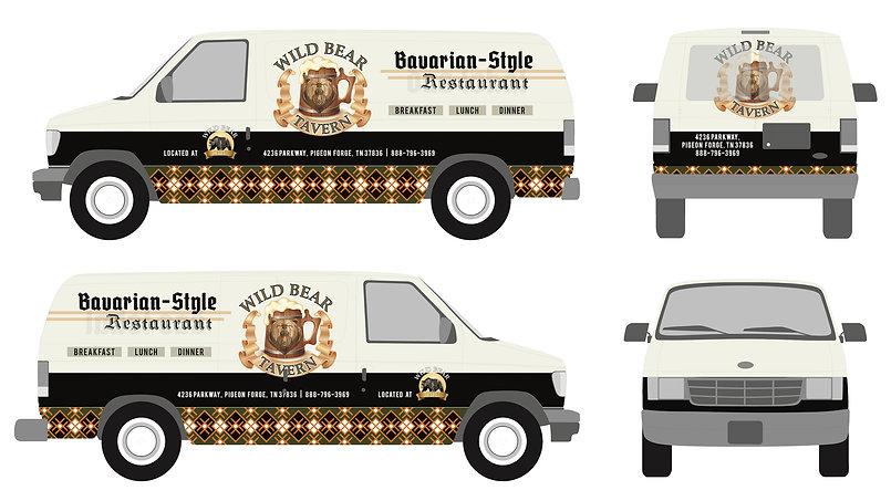 MKTG 117180 Wild Bear Tavern Van Wrap M1