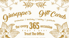 Giuseppe's Gift Cards: The Perfect Treat!