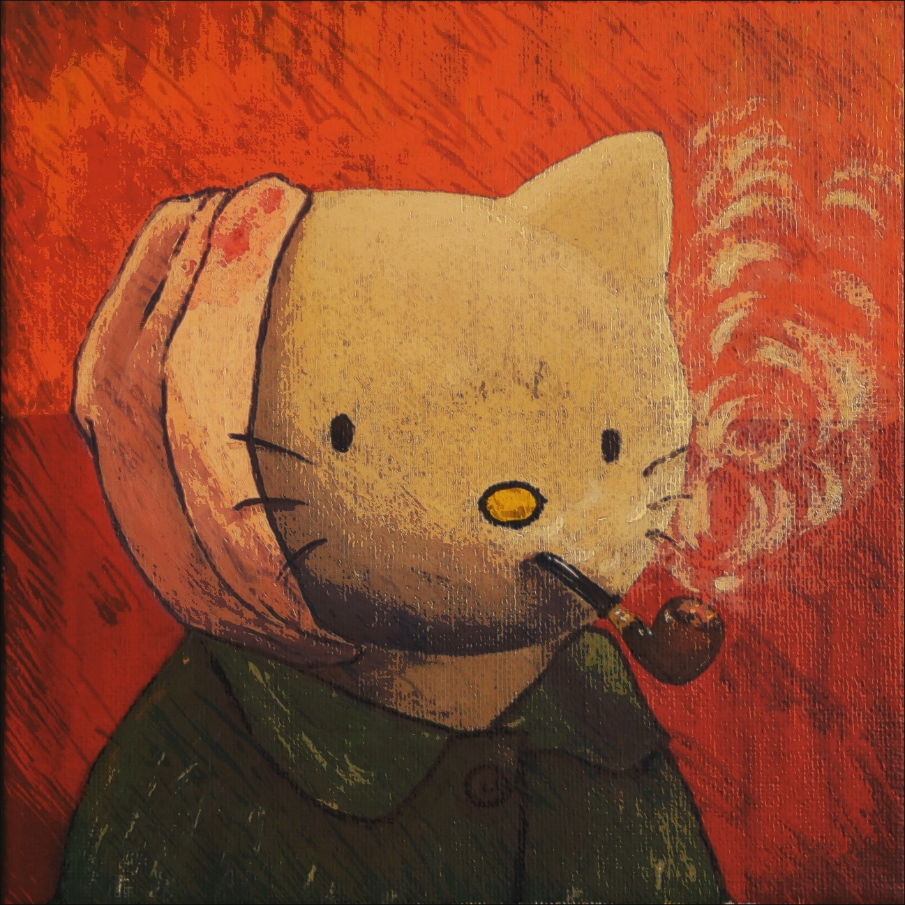 Van Gogh + Hello Kitty